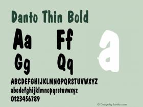 DantoThinBold Altsys Fontographer 4.1 2/2/95 {DfLp-URBC-66E7-7FBL-FXFA}图片样张
