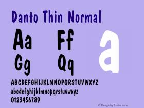 DantoThinNormal Altsys Fontographer 4.1 1/30/95 {DfLp-URBC-66E7-7FBL-FXFA}图片样张