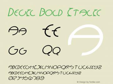 Devil Bold Italic Version 1.000;PS 001.001;hotconv 1.0.38 {DfLp-URBC-66E7-7FBL-FXFA}图片样张