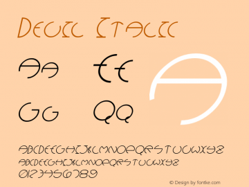 Devil Italic Version 1.000;PS 001.001;hotconv 1.0.38 {DfLp-URBC-66E7-7FBL-FXFA}图片样张