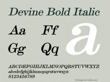 DevineBoldItalic Altsys Fontographer 4.1 12/28/94 {DfLp-URBC-66E7-7FBL-FXFA}图片样张