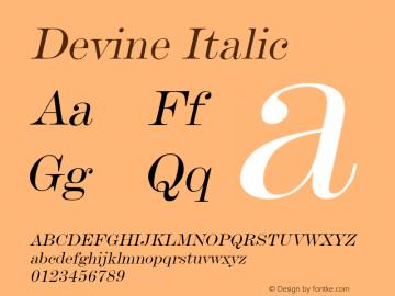 DevineItalic Altsys Fontographer 4.1 12/28/94 {DfLp-URBC-66E7-7FBL-FXFA}图片样张