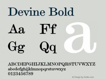 DevineBold Altsys Fontographer 4.1 12/28/94 {DfLp-URBC-66E7-7FBL-FXFA}图片样张