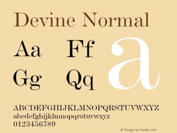 DevineNormal Altsys Fontographer 4.1 12/28/94 {DfLp-URBC-66E7-7FBL-FXFA}图片样张