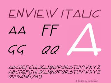EnviewItalic Altsys Fontographer 4.1 1/31/95 {DfLp-URBC-66E7-7FBL-FXFA}图片样张