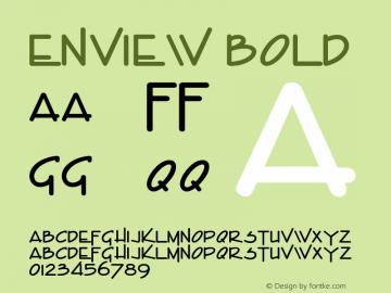 EnviewBold Altsys Fontographer 4.1 1/31/95 {DfLp-URBC-66E7-7FBL-FXFA}图片样张