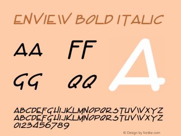 EnviewBoldItalic Altsys Fontographer 4.1 1/31/95 {DfLp-URBC-66E7-7FBL-FXFA}图片样张