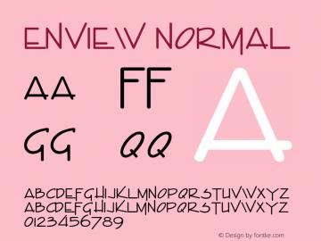 EnviewNormal Altsys Fontographer 4.1 1/31/95 {DfLp-URBC-66E7-7FBL-FXFA}图片样张