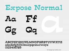ExposeNormal Altsys Fontographer 4.1 12/29/94 {DfLp-URBC-66E7-7FBL-FXFA}图片样张