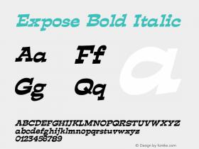 ExposeBoldItalic Altsys Fontographer 4.1 12/29/94 {DfLp-URBC-66E7-7FBL-FXFA}图片样张