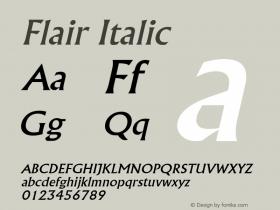 FlairItalic Altsys Fontographer 4.1 2/1/95 {DfLp-URBC-66E7-7FBL-FXFA}图片样张