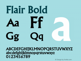 FlairBold Altsys Fontographer 4.1 2/1/95 {DfLp-URBC-66E7-7FBL-FXFA}图片样张