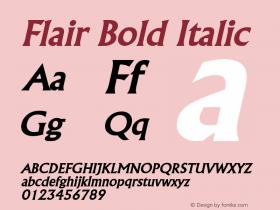 FlairBoldItalic Altsys Fontographer 4.1 2/1/95 {DfLp-URBC-66E7-7FBL-FXFA}图片样张