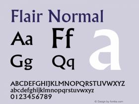 FlairNormal Altsys Fontographer 4.1 2/1/95 {DfLp-URBC-66E7-7FBL-FXFA}图片样张