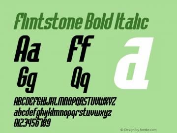 FlintstoneBoldItalic Altsys Fontographer 4.1 2/1/95 {DfLp-URBC-66E7-7FBL-FXFA}图片样张