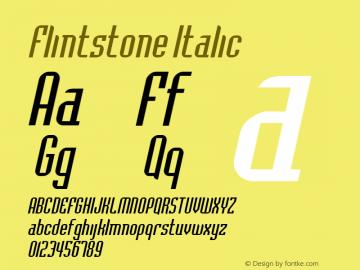 FlintstoneItalic Altsys Fontographer 4.1 2/1/95 {DfLp-URBC-66E7-7FBL-FXFA}图片样张