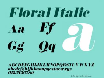 FloralItalic 1.0 Tue Jul 27 01:02:56 1993 {DfLp-URBC-66E7-7FBL-FXFA}图片样张