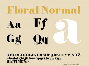 FloralNormal 1.0 Tue Jul 27 01:05:09 1993 {DfLp-URBC-66E7-7FBL-FXFA}图片样张