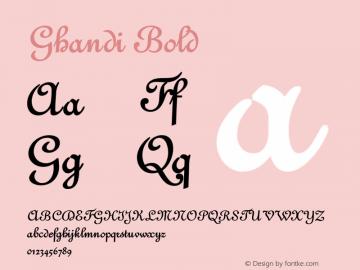GhandiBold Version 001.000 {DfLp-URBC-66E7-7FBL-FXFA}图片样张