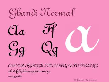 GhandiNormal Version 001.000 {DfLp-URBC-66E7-7FBL-FXFA}图片样张
