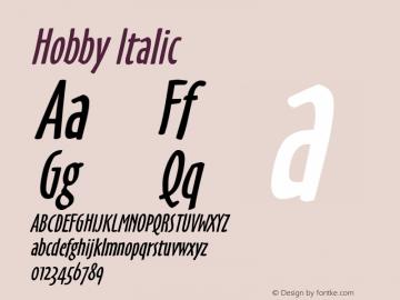 HobbyItalic Altsys Fontographer 4.1 6/26/96 {DfLp-URBC-66E7-7FBL-FXFA}图片样张