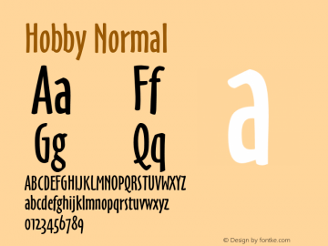 HobbyNormal Altsys Fontographer 4.1 6/26/96 {DfLp-URBC-66E7-7FBL-FXFA}图片样张