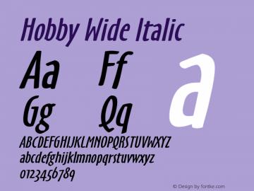 HobbyWideItalic 1.0 Wed Jul 28 16:34:49 1993 {DfLp-URBC-66E7-7FBL-FXFA}图片样张