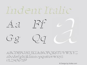 IndentItalic Altsys Fontographer 4.1 1/5/95 {DfLp-URBC-66E7-7FBL-FXFA}图片样张
