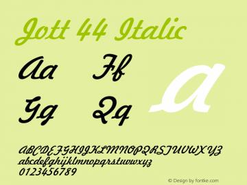 Jott44Italic 1.0 Wed Jul 28 17:23:28 1993 {DfLp-URBC-66E7-7FBL-FXFA}图片样张