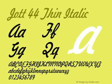Jott44ThinItalic 1.0 Wed Jul 28 17:21:24 1993 {DfLp-URBC-66E7-7FBL-FXFA}图片样张