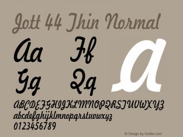 Jott44ThinNormal 1.0 Wed Jul 28 17:22:49 1993 {DfLp-URBC-66E7-7FBL-FXFA}图片样张