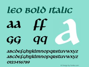 LeoBoldItalic Altsys Fontographer 4.1 1/8/95 {DfLp-URBC-66E7-7FBL-FXFA}图片样张