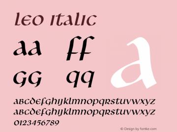 LeoItalic Altsys Fontographer 4.1 1/8/95 {DfLp-URBC-66E7-7FBL-FXFA}图片样张