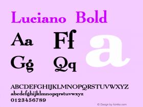 LucianoBold Altsys Fontographer 4.1 1/8/95 {DfLp-URBC-66E7-7FBL-FXFA}图片样张