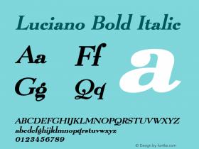 LucianoBoldItalic Altsys Fontographer 4.1 1/8/95 {DfLp-URBC-66E7-7FBL-FXFA}图片样张