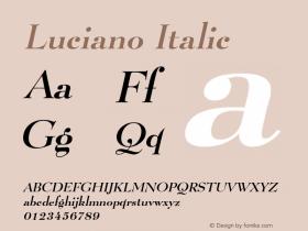 LucianoItalic Altsys Fontographer 4.1 1/8/95 {DfLp-URBC-66E7-7FBL-FXFA}图片样张