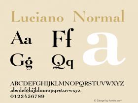 LucianoNormal Altsys Fontographer 4.1 1/8/95 {DfLp-URBC-66E7-7FBL-FXFA}图片样张