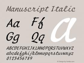 ManuscriptItalic Altsys Fontographer 4.1 1/8/95 {DfLp-URBC-66E7-7FBL-FXFA}图片样张