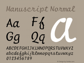 ManuscriptNormal Altsys Fontographer 4.1 1/8/95 {DfLp-URBC-66E7-7FBL-FXFA}图片样张