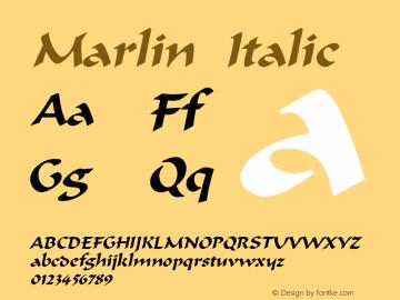 MarlinItalic Altsys Fontographer 4.1 12/22/94 {DfLp-URBC-66E7-7FBL-FXFA}图片样张