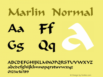 MarlinNormal Altsys Fontographer 4.1 12/22/94 {DfLp-URBC-66E7-7FBL-FXFA}图片样张