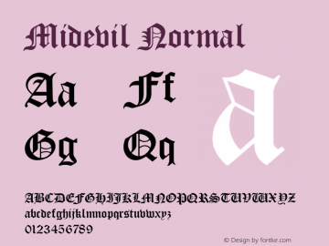 MidevilNormal 1.0 Wed Jul 28 13:46:37 1993 {DfLp-URBC-66E7-7FBL-FXFA}图片样张
