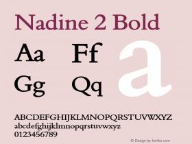 Nadine2Bold Altsys Fontographer 4.1 1/9/95 {DfLp-URBC-66E7-7FBL-FXFA}图片样张