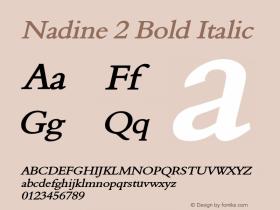Nadine2BoldItalic Altsys Fontographer 4.1 1/9/95 {DfLp-URBC-66E7-7FBL-FXFA}图片样张
