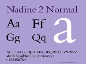 Nadine2Normal Altsys Fontographer 4.1 1/9/95 {DfLp-URBC-66E7-7FBL-FXFA}图片样张