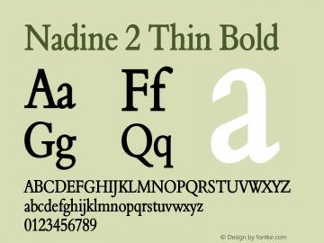 Nadine2ThinBold Altsys Fontographer 4.1 1/9/95 {DfLp-URBC-66E7-7FBL-FXFA}图片样张