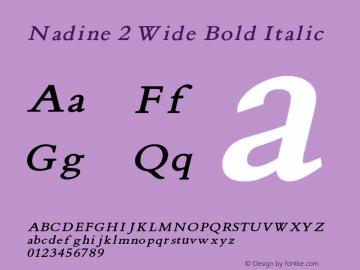 Nadine2WideBoldItalic Version 1.000;PS 001.001;hotconv 1.0.38 {DfLp-URBC-66E7-7FBL-FXFA}图片样张