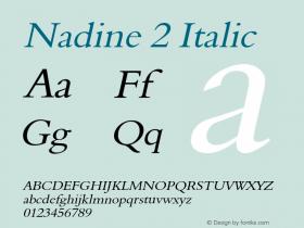 Nadine2Italic Altsys Fontographer 4.1 1/9/95 {DfLp-URBC-66E7-7FBL-FXFA}图片样张