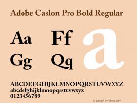 Adobe Caslon Pro Bold Regular OTF 1.012;PS 001.000;Core 1.0.30;makeotf.lib1.4.1030 Font Sample