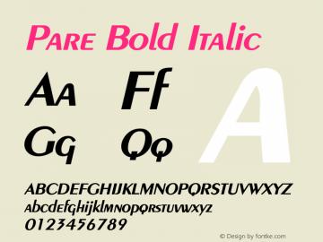 PareBoldItalic Altsys Fontographer 4.1 1/9/95 {DfLp-URBC-66E7-7FBL-FXFA}图片样张
